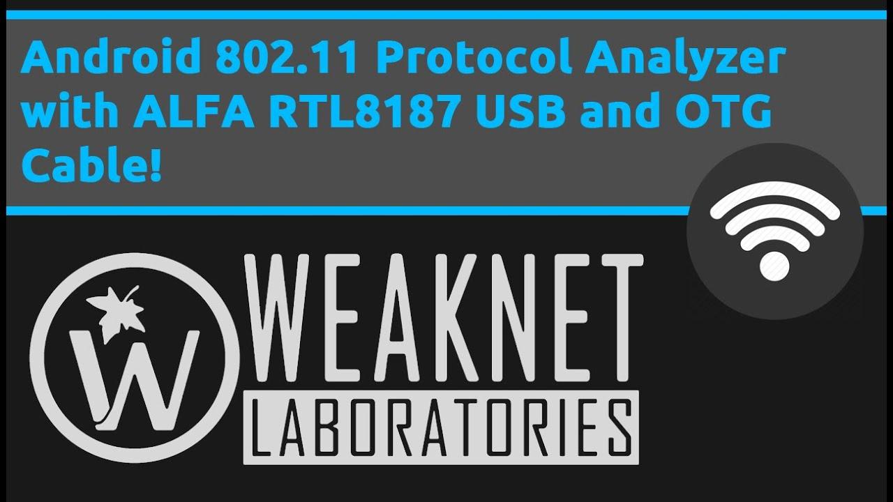 Android 802 11 Protocol Analyzer with ALFA RTL8187 USB OTG