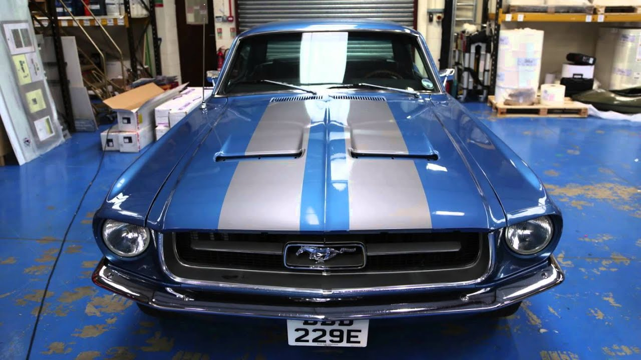 Mustang Decals And Stripes >> Mustang Vinyl Stripes by Excel Colour Print - YouTube