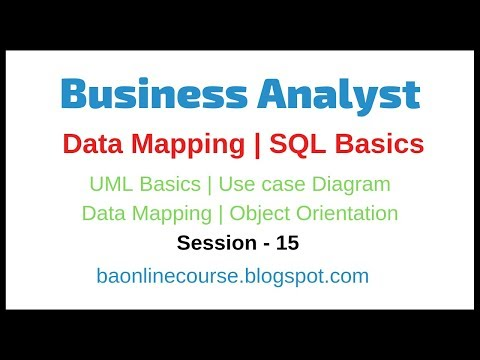 Data Mapping Tutorial  | SQL | UML | Use Case Diagram | Business Analyst Object Orientation Video thumbnail