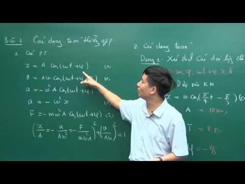 Các dạng bài về dao động và phương pháp giải - Lớp 12 - Thầy Tiến Hà - PEN-C