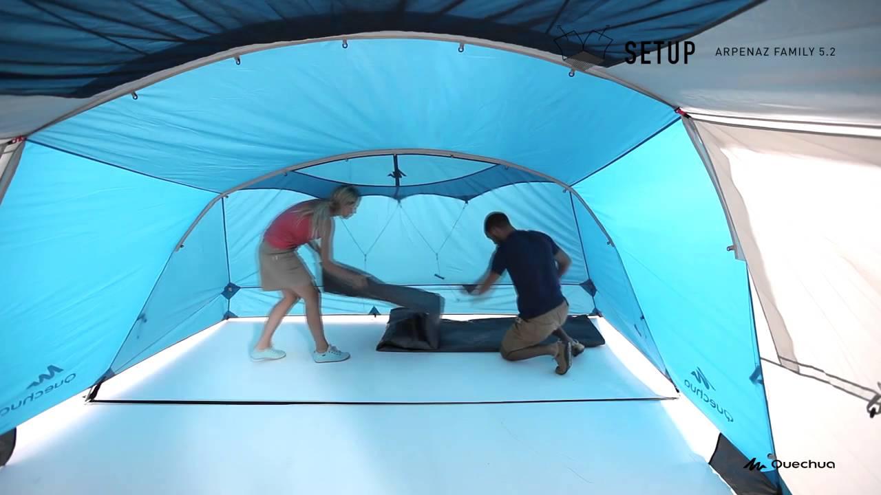 Quechua Zelt Heringe : Como montar a barraca arpenaz family quechua