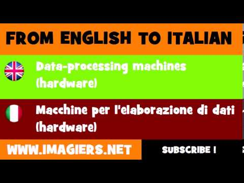How to say Data processing machines hardware in Italian