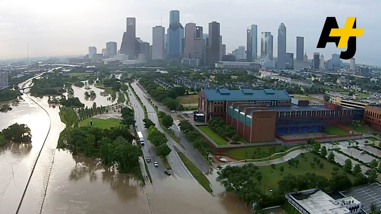 Drone Footage Shows Huge Floods In Houston, Texas - YouTube