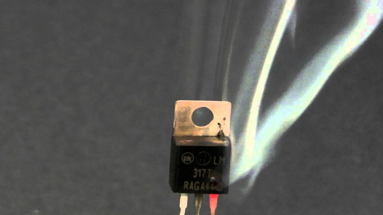 Lm317 Magic Smoke Youtube And Built The Circuit As Shown Using An Voltage Regulator