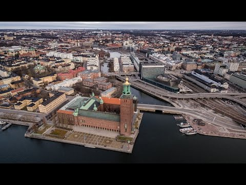 Stockholm from a drone in EPIC 4K
