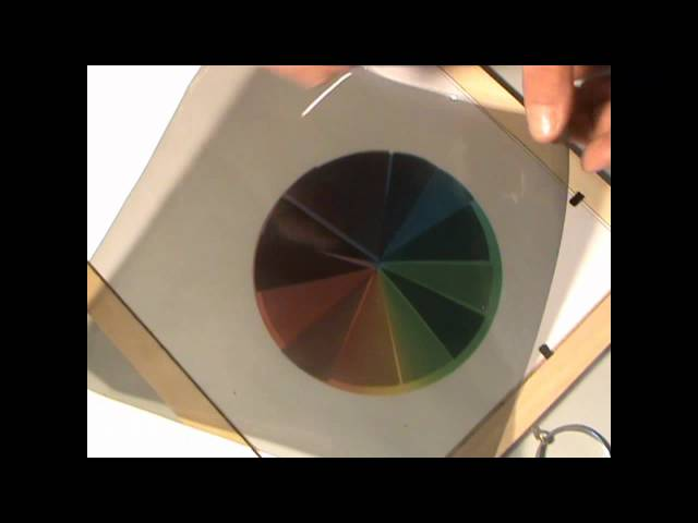 Polarizer and colours - Science experiment