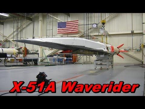🚀X-51A Waverider🗽 — гиперзвуковая крылатая ракета США.