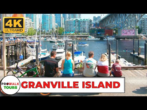 Granville Island Walking Tour [4K | Binaural Audio]