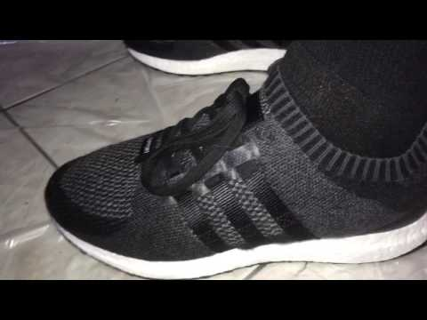 best sneakers 6e01e ee4ca Adidas EQT Support Ultra Boost Blk Charcoal Grey 91 16 On feet Action  180usd New in