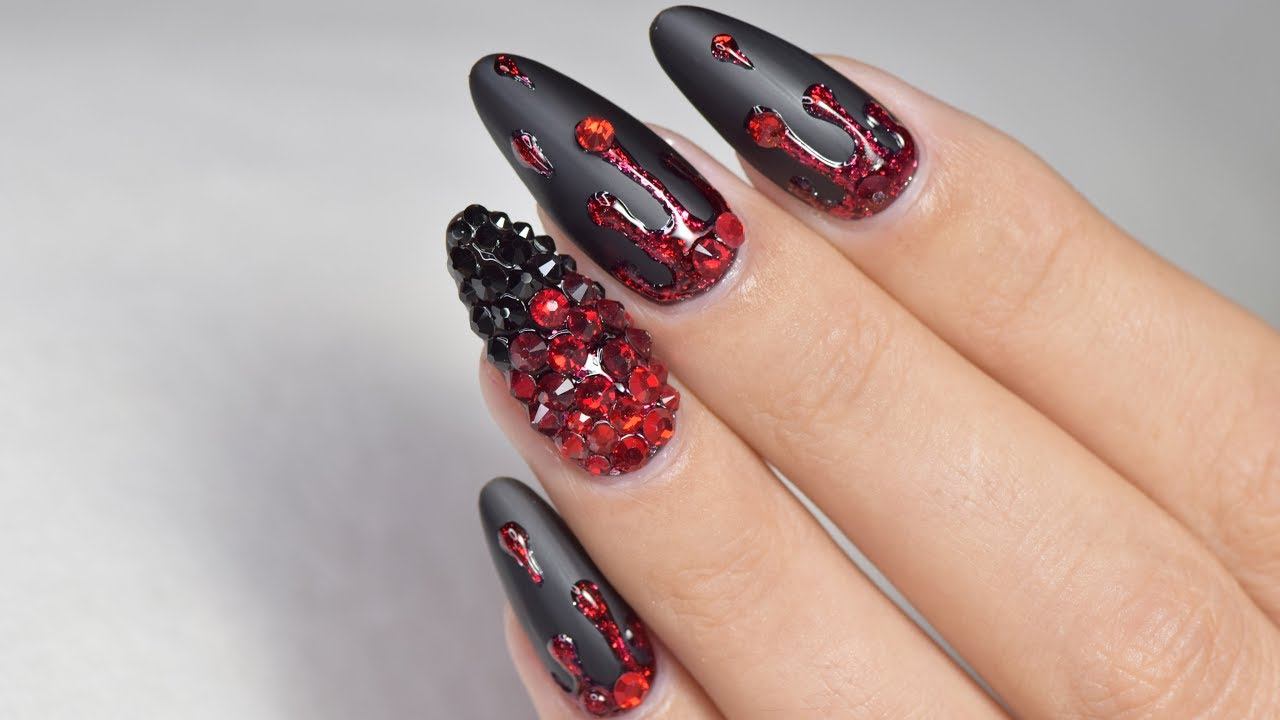Halloween Nails | April Ryan | Red Iguana - YouTube