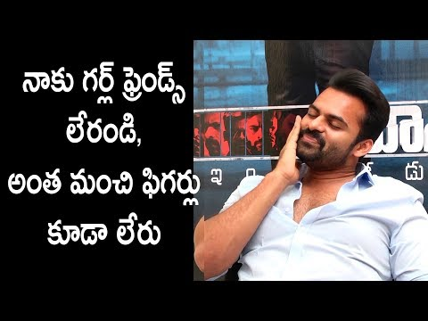 I have no girlfriends: Sai Dharam Tej funny punches on anchor || Jawaan interview