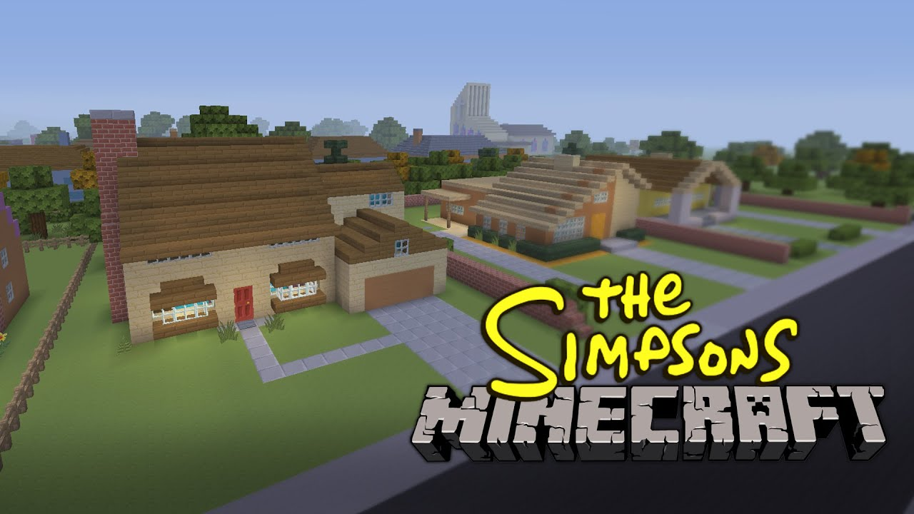 The simpsons intro built in minecraft youtube - Creation maison 3d ...
