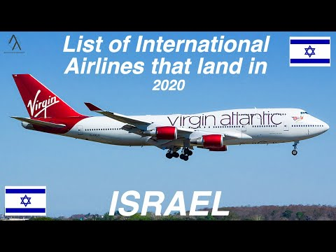 List Of International Airlines That Land In ISRAEL 🇮🇱 [2020]