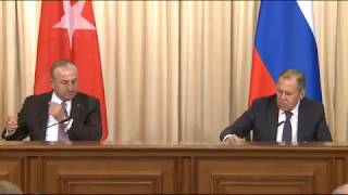 Пресс-конференция С.Лаврова и М.Чавушоглу