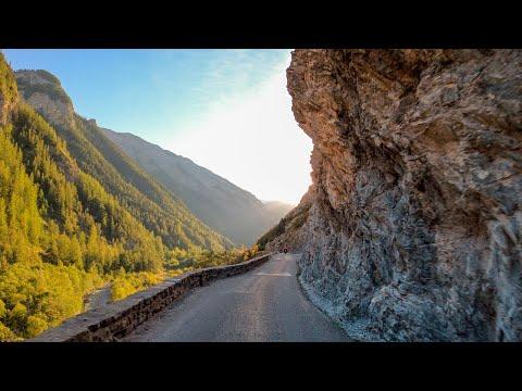 Driving the Col de la Cayolle, France