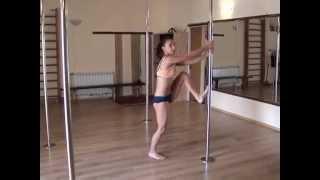 Pole dance. Уроки танцев. Split.Продольный шпагат на пилоне.(Этот видео-урок поможет Вам выполнить проддольный шпагат на пилоне., 2013-06-10T12:59:44.000Z)