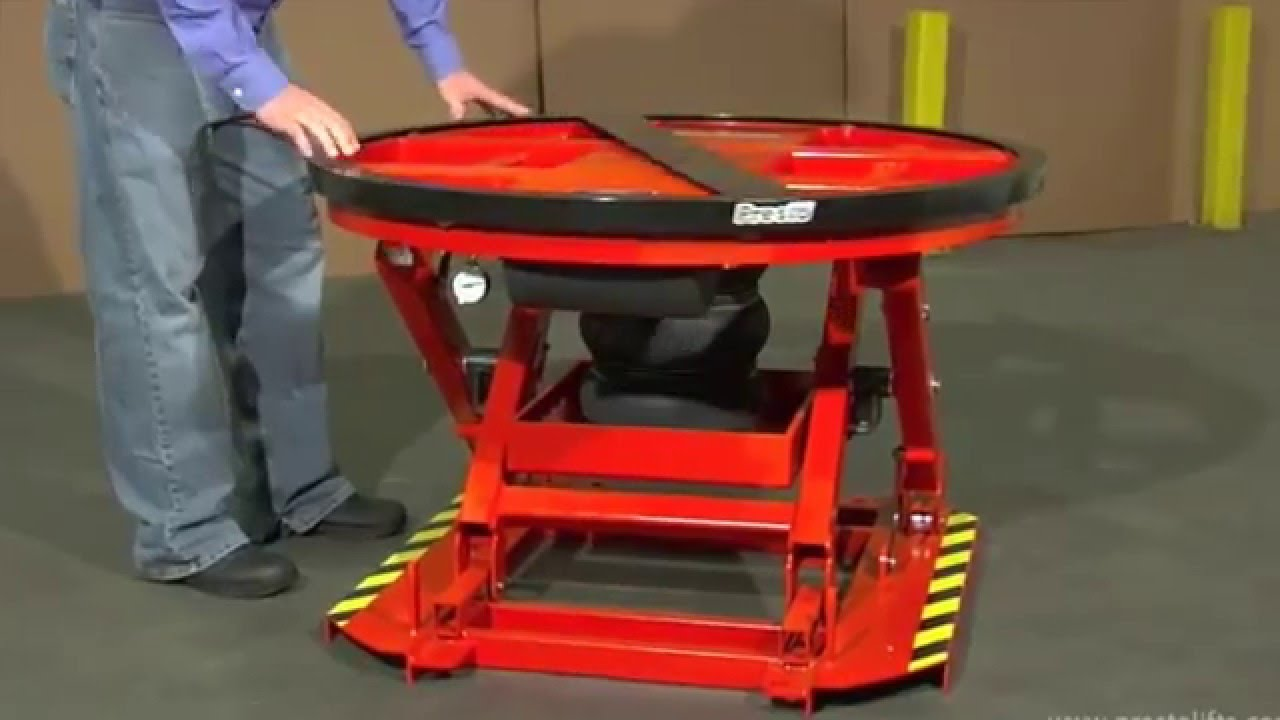 Self Leveling Tables : Presto lifts p aa self leveling pallet positioner youtube