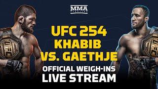 UFC 254: Khabib vs. Gaethje Official Weigh-Ins Live Stream - MMA Fighting