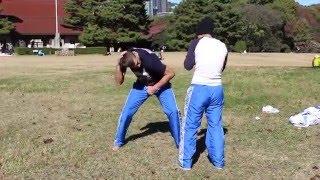 Боксерская тренировка Ди Умаровой от Андрея Герасимова в Японии