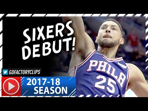 Ben Simmons Full Highlights vs Wizards (2017.10.18) - 20 Pts, 10 Reb, Sixers Debut!