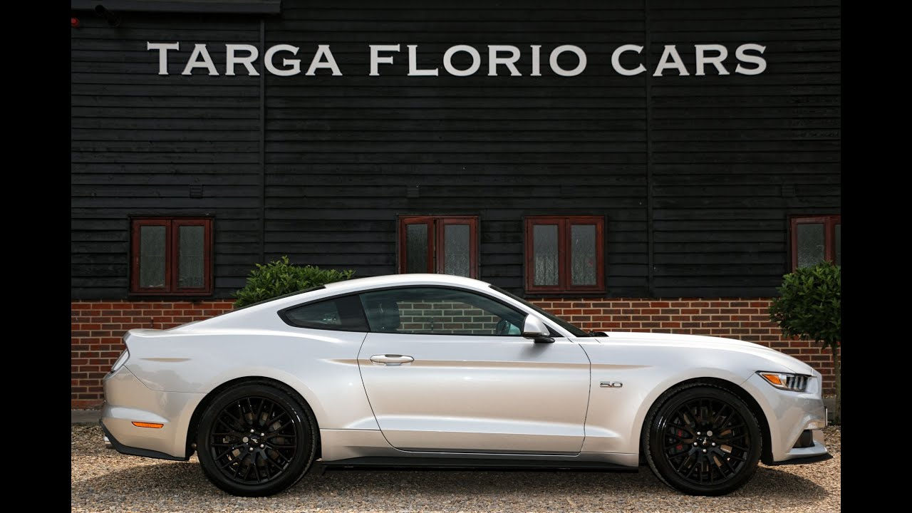 ford mustang gt   automatic  ingot silver  full black ebony leather youtube