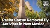 Controversial Obelisk In Santa Fe Plaza Torn Down Youtube
