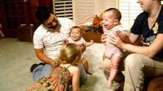 Giggling Twin Babies! Super Cute!