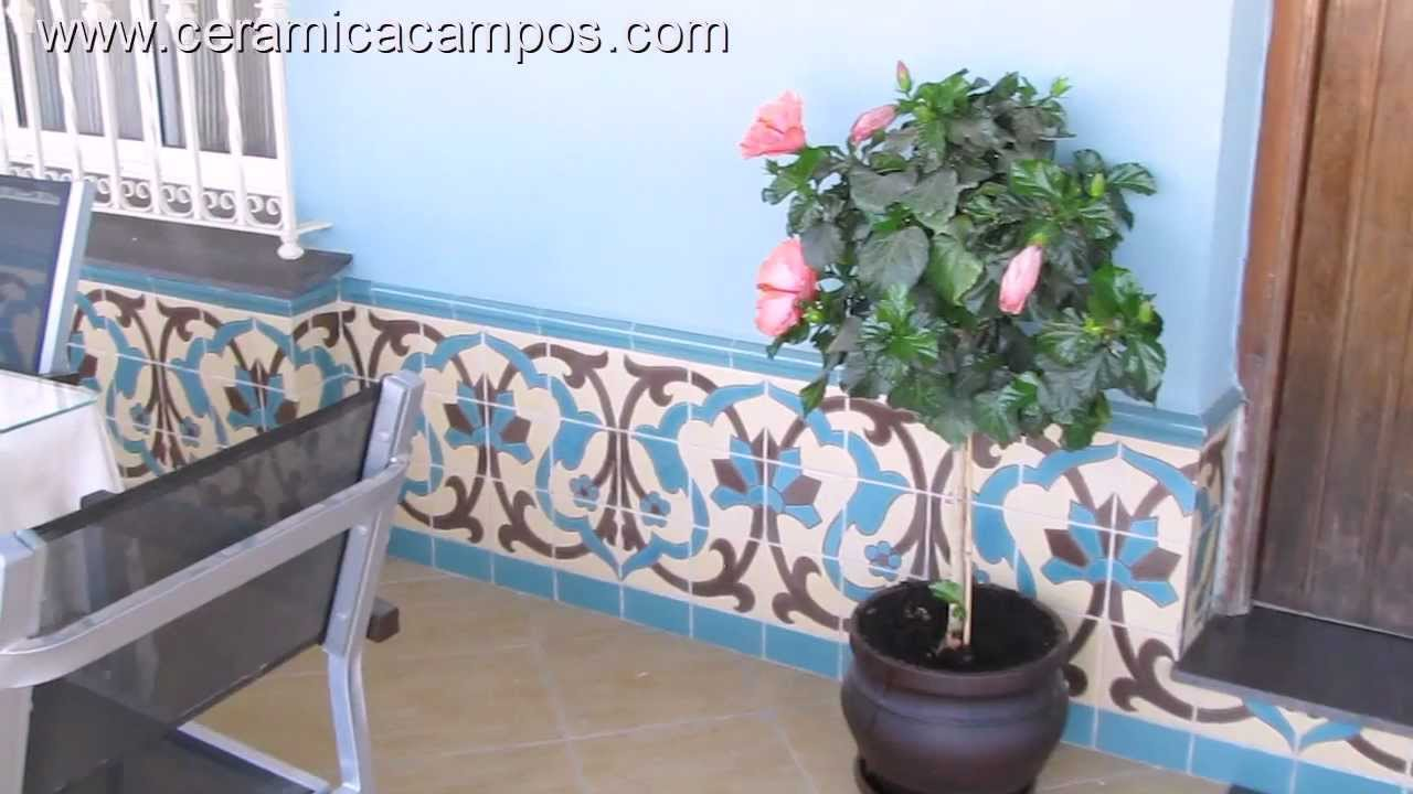 Zcalos de azulejo estilo rstico  YouTube