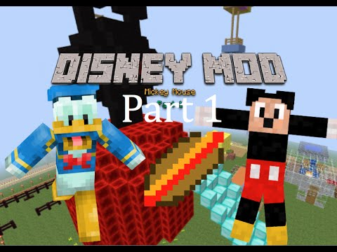 mickey mouse disney mod part 1 minecraft 1710 youtube