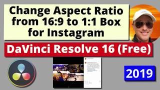 Change Aspect Ratio to Square or Vertical for Instagram, Pinterest Mobile Video | DaVinci Resolve 16