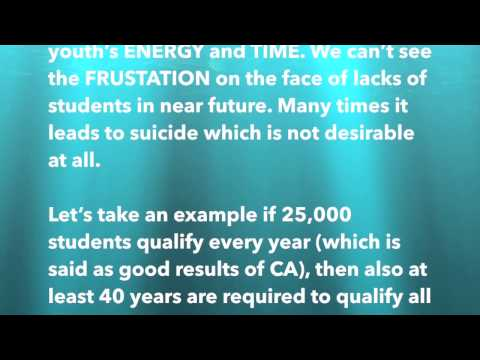 Open Letter to the President, ICAI- Read it Till End. A Must Watch & Share for Every CA Student