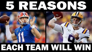 5 Reasons Why Florida Will Beat LSU... AND 5 Reasons Why LSU Will Beat Florida
