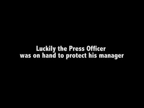 Peterborough United Press Officer Protecting His Manager
