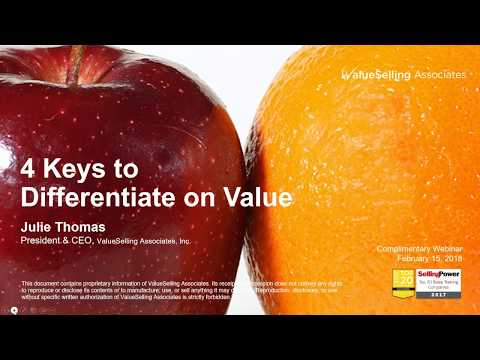 4 Keys to Differentiate on Value