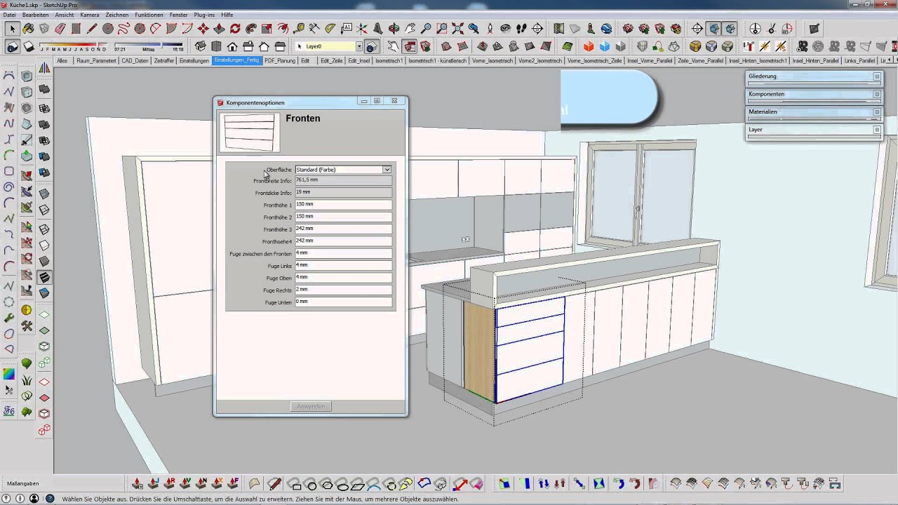 Dynamischer Korpus Sketchup  kostenloser Download