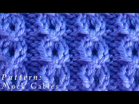 Flat Knot Knitting Stitch : Spine Stitch Doovi