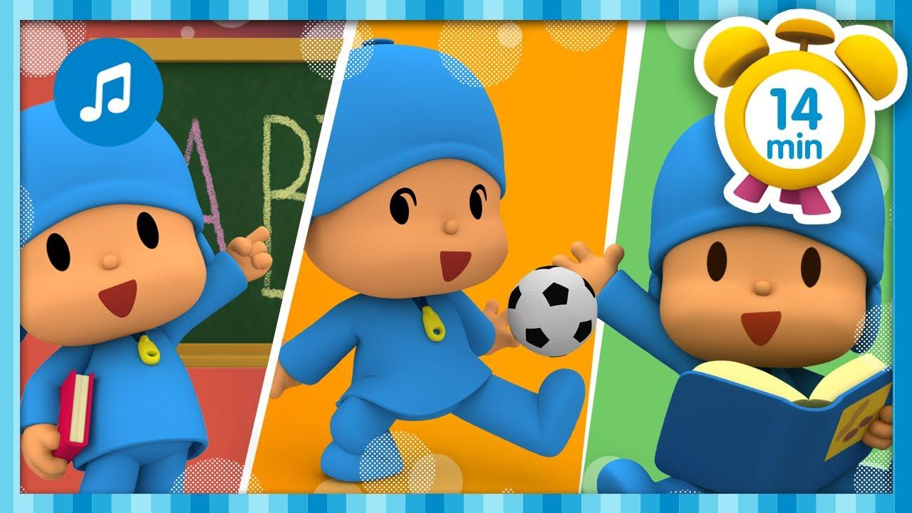 🏫 POCOYO GOES TO SCHOOL + More Nursery Rhymes & Kids Songs [ 14 minutes ]   Pocoyo