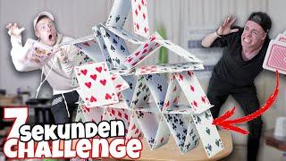 Das GRÖSSTE KARTENHAUS DER WELT bauen ! 😱 (7 Sekunden Challenge) II RayFox