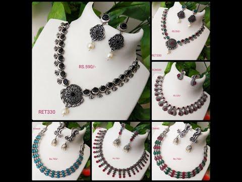 Oxidised / German Silver / Black Metal Necklaces