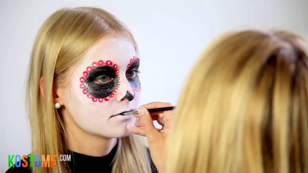 Sugar Skull Schminken Día De Los Muertos