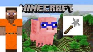 Minecraft Super Pig Adventures 2:Ladrões, Aranha radioativa e começo da casa