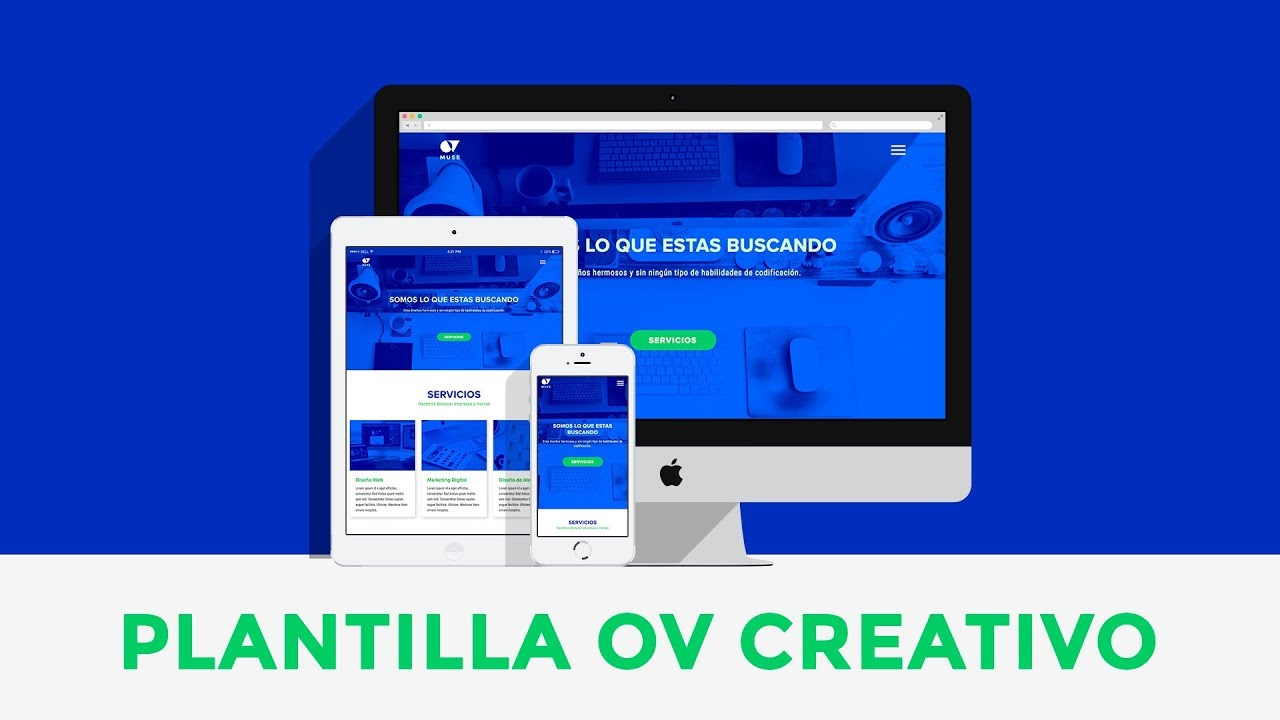 OV Creativo – Plantilla para Adobe Muse CC