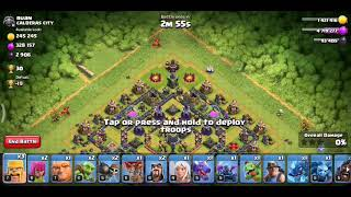Attack with all troops COC