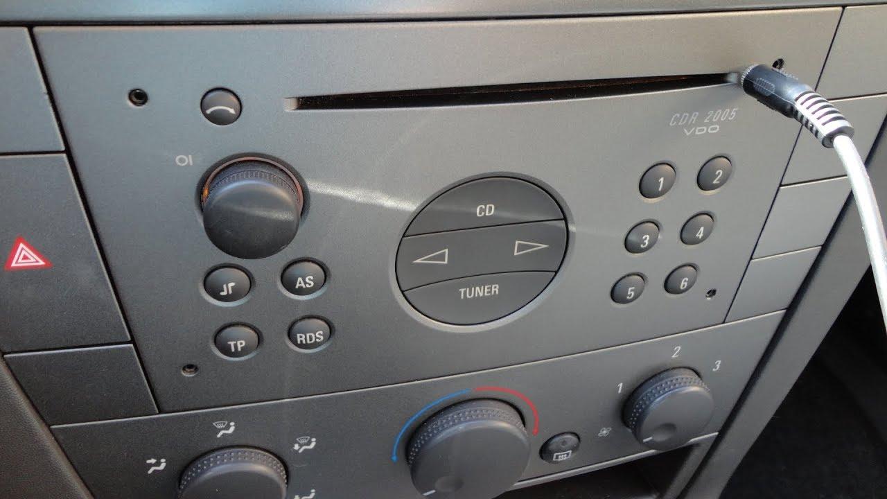 Aux In Siemens Cdr 2005 Vdo  Opel  Vauxhall