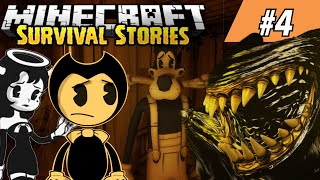 BENDY HUNTS FOR SCARY MONSTERS! || Minecraft Survival Episode 4