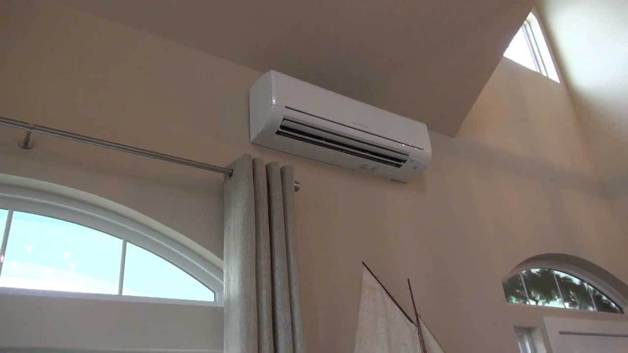 Small Bedroom Air Conditioner Mitsubishi Mr Slim Single Room Wall Mounted Ac Heat Pump Youtube