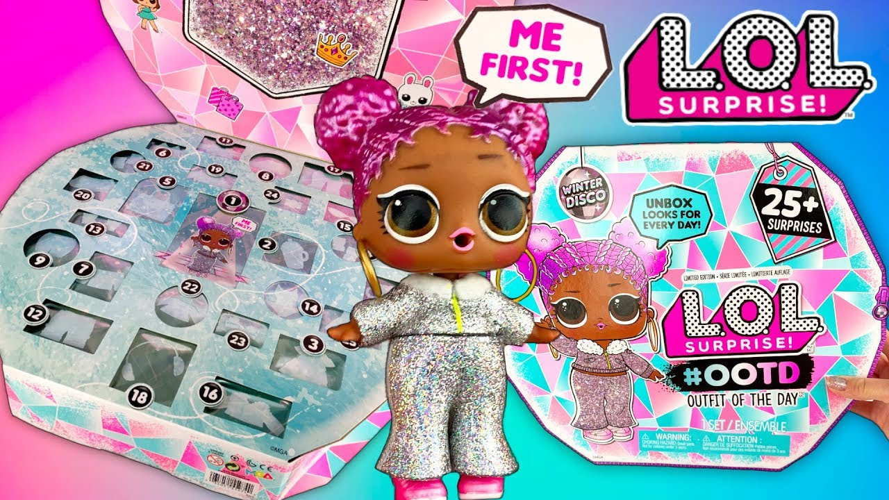 LOL Surprise Winter Disco OOTD Outfit Of The Day Doll Unboxing! 25+  Surprises! , LOL Doll Video