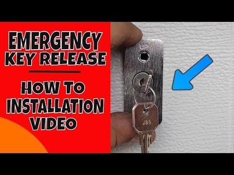 How To Install A Garage Door Emergency Key Release Video
