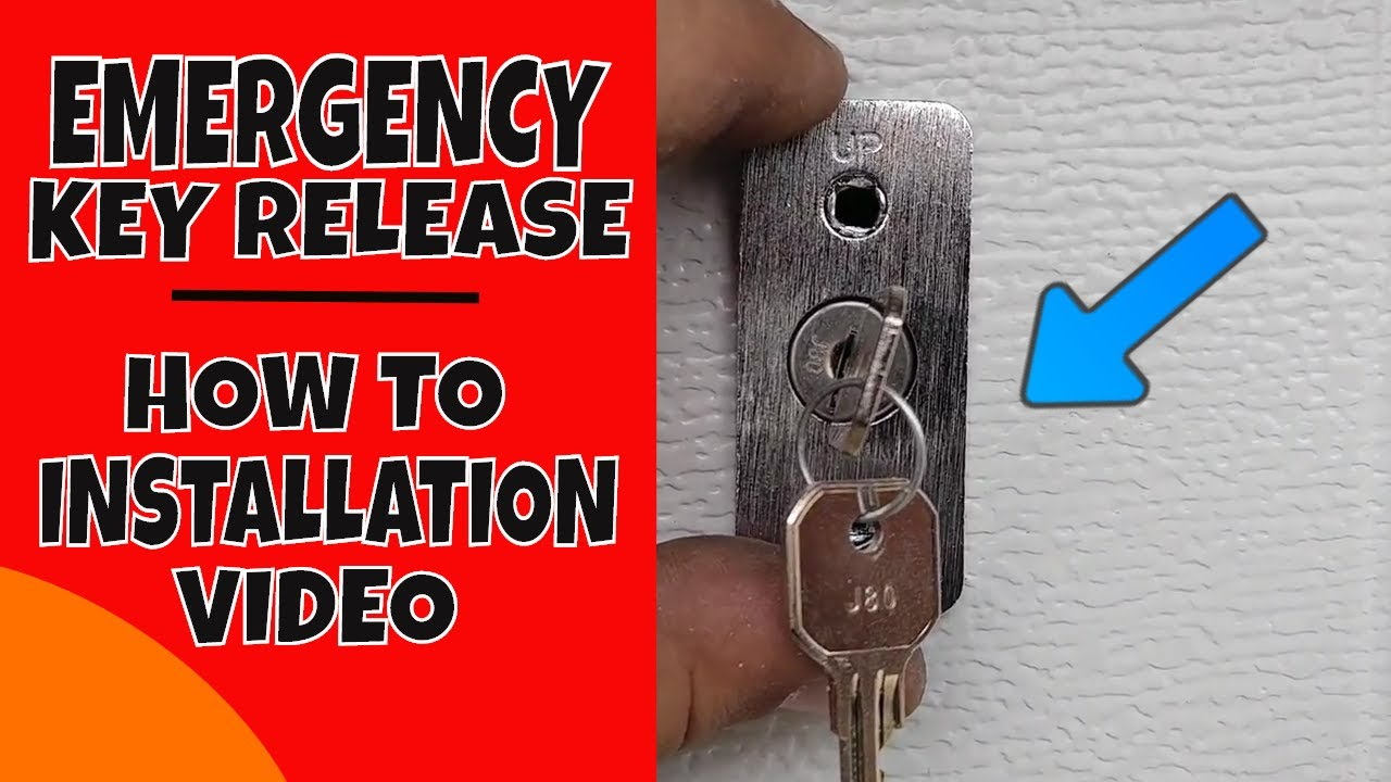 How To Install A Garage Door Emergency Key Release Video Youtube