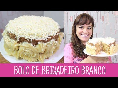 BOLO DE BRIGADEIRO BRANCO - #349 - Receitas da Mussinha